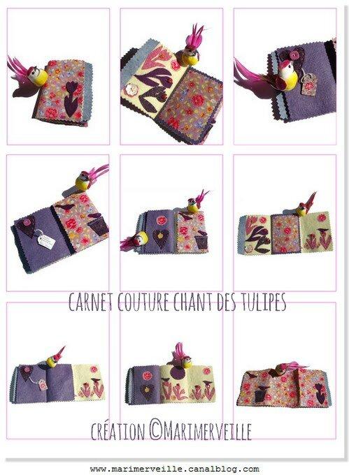 Carnet chant des tulipes création marimerveille