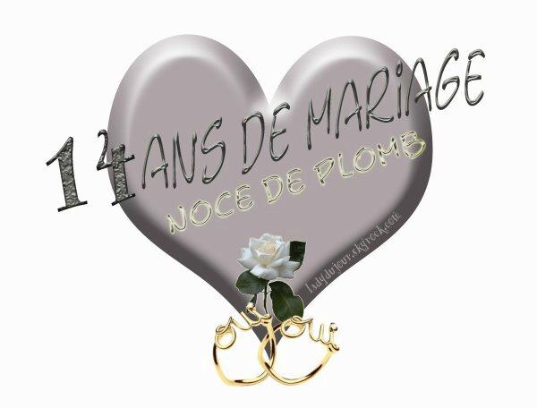 Noce de plomb ca vous int resse - 17 ans de mariage noces de saphir ...