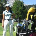 Michelle Wie au putting green