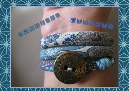 bracelet liberty bleu