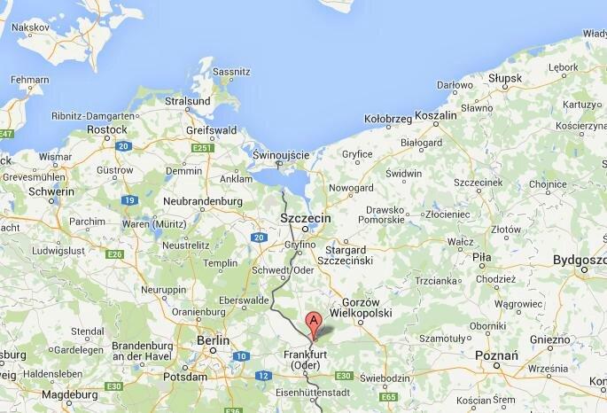 Localisation géographique de Custrin