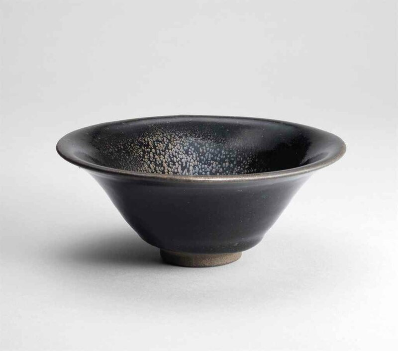 A Jian 'oil spot' black-glazed bowl, Southern Song dynasty (960-1279)