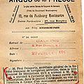 L'argus de la presse . 1909.le gaulois.