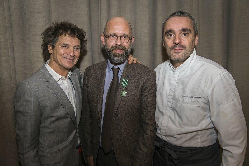 Arts et Lettres - Frédéric Fougerat avec les chefs Guy Martin et Thierry Vaissière