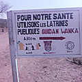 AJAK construction des latrines marché de Korgom 2017