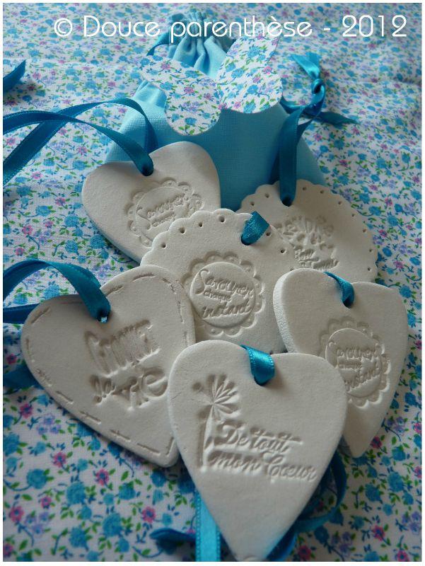 Coeurs en pâte de lin