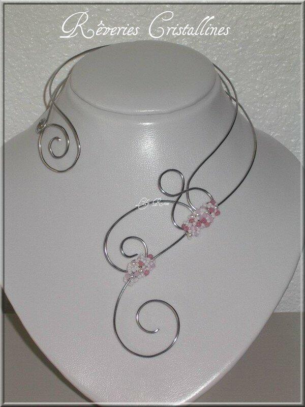 Souvent Collier fil d'aluminium - Rêveries Cristallines OI11