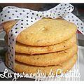Cookies aux pépites de chocolatblanc, huile d'olive et thym de léa