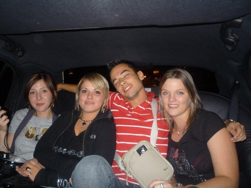 Las Vegas : Sandra, Eva, Mickael, Florie en Limousine