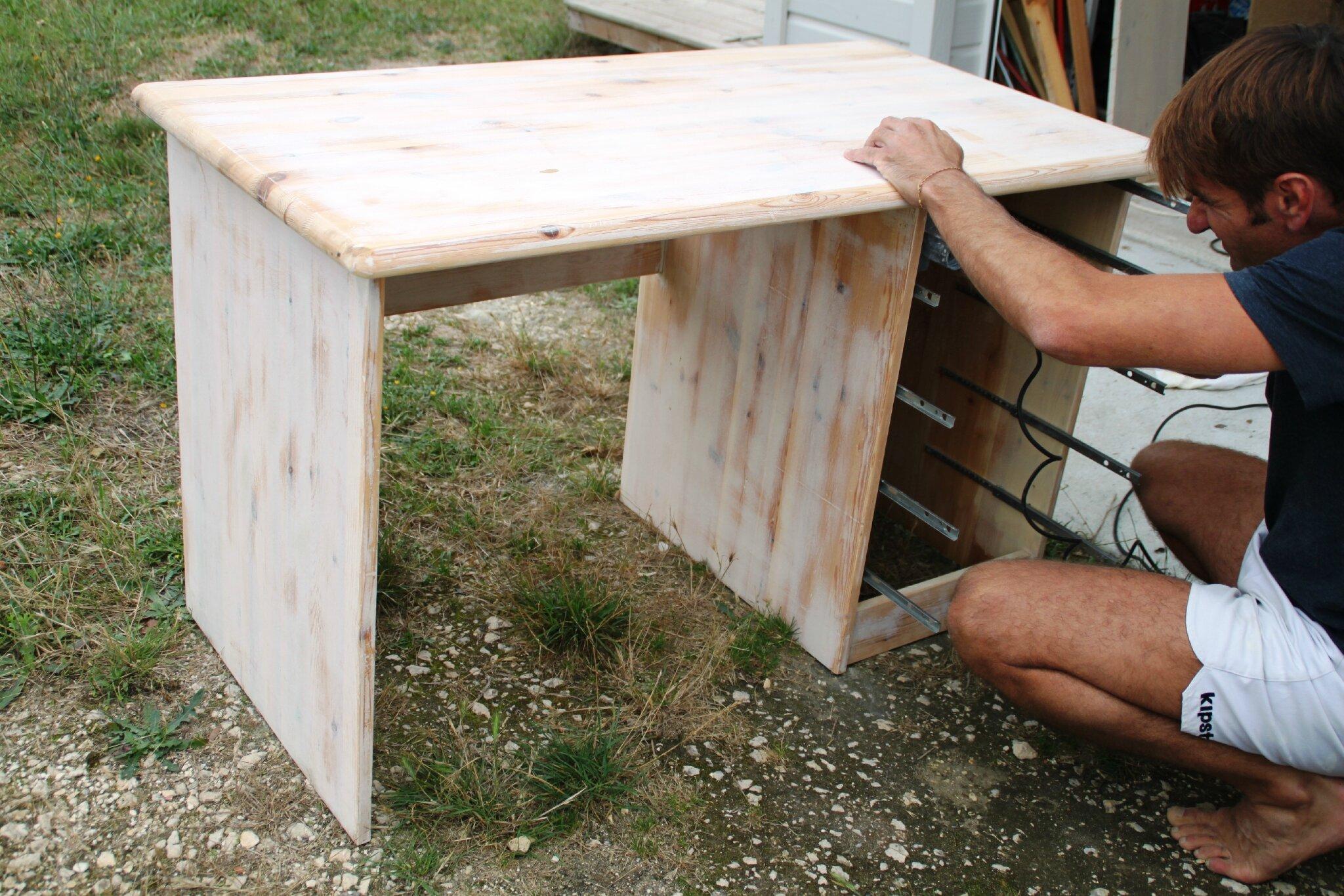 Customiser un bureau bois bureau bois massif design beau table