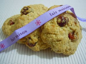 cookies flocons d'avoine cranberries (3)
