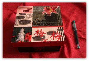 Boîte décor asiatique