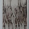 Anne Brasse, Au cœur de la forêt, burin , P1280056