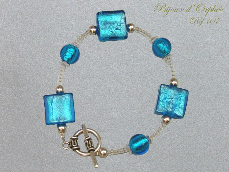 creation bracelet fantaisie perle argent murano bleue swarovski photo de creations bracelets. Black Bedroom Furniture Sets. Home Design Ideas