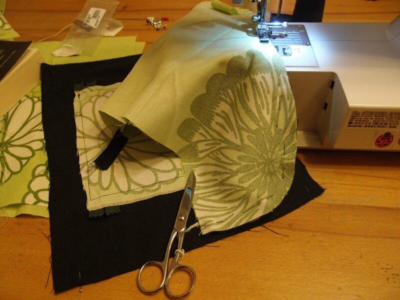 préparatin couture sac