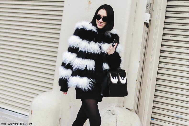 New_York_Fashion_Week-Fall_Winter_2015-Street_Style-NYFW-Eva_Chen_Black_And_White_Fur_Coat-1-790x527