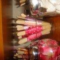 Mes rubans mis sur des batons de glace!!!