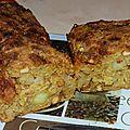 Cake tartiflette sans gluten