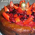Cake aux fruits rouges 2