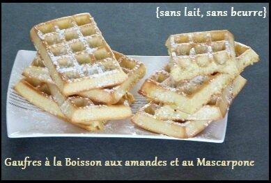 """ღ """" Miam """" Gaufres à la Boisson gourmande Amandes -Caramel Salé (au Four )"""