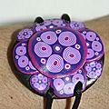 bracelet violet fleurs spirales V1