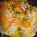 Poulet au rondelles de carottes sauce curry