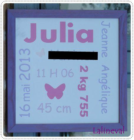 cadre naissance julia