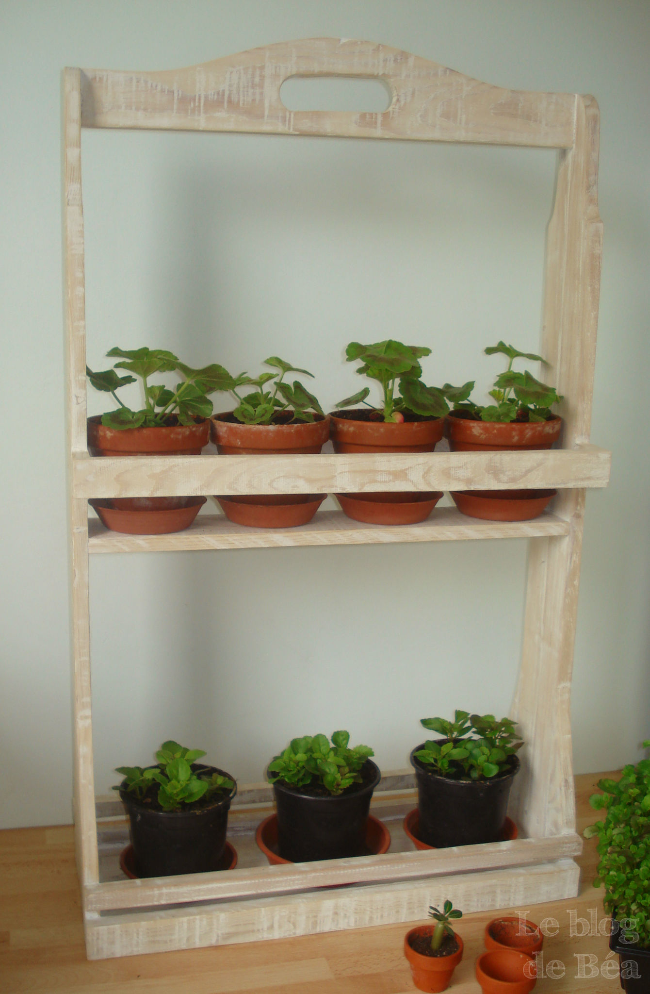 Diy etag re pour plantes le blog de b a for Idee deco etagere cuisine