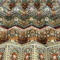 Detail des mosaiques, Wat Pho, Bangkok