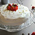 Fraisier - pistache façon layer cake