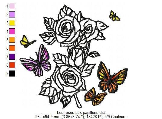 22 - Les roses aux papillons