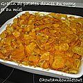 Gratin de patates douces au curry et au miel