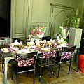 Décoration de table pour une boutique