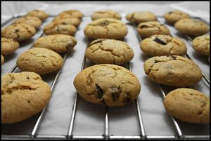 cookies au pralin et 2 chocolats