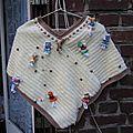 Doll : un autre modèle de poncho à réaliser, au tricot ou au crochet! le poncho 2 rectangles!!! facile!!!