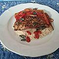 Filets de cabillaud à la plancha et à la tomate et aux herbes de provence
