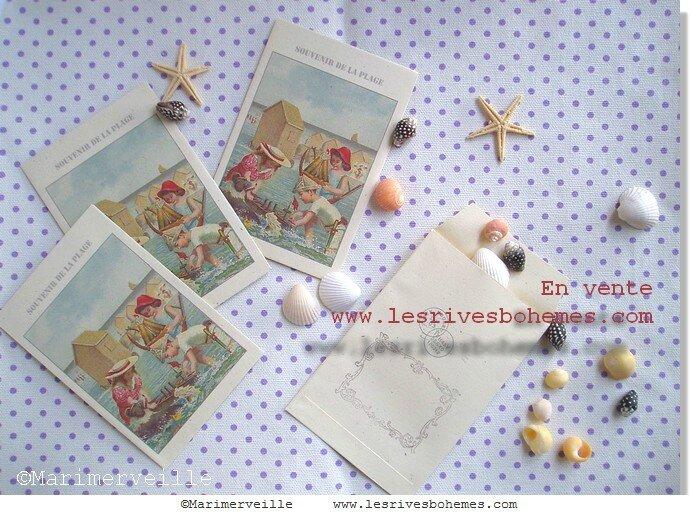 Marimerveille pochettes souvenir de la plage 3