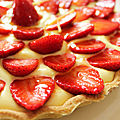 TARTE AUX FRAISES SUR MOUSSE AU CITRON