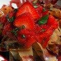 Tagliatelles aux fraises et au vin