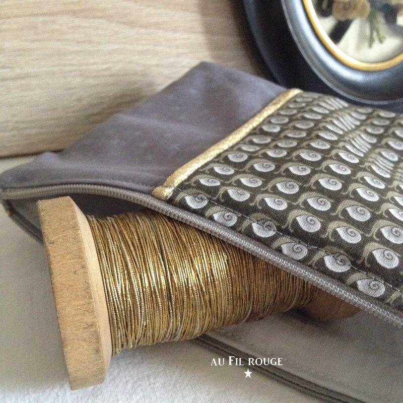 Trousse zippée Escargot détail