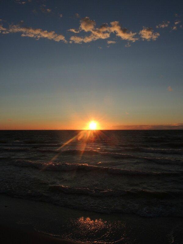 L) Zelenogradsk, coucher de soleil sur la Baltique