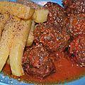 Pauvreté et précarité en littérature. boulettes de porc et légumes, frites de polenta au romarin. blue monday.