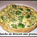 Quiche de brocoli aux graines