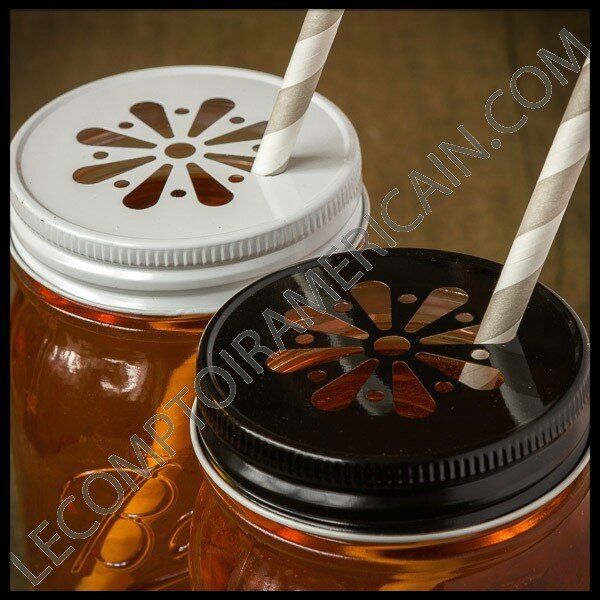le comptoir americain mug mason jar regular couvercle marguerite couleur 1