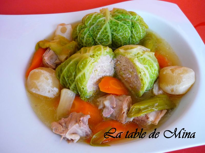 pot au feu au chou farci la table de mina
