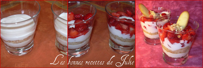 trifle de fraises fromage blanc langues de chat les bonnes recettes de julie. Black Bedroom Furniture Sets. Home Design Ideas