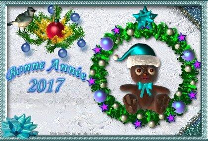 022-carte-bonne- annee-2017-givre- nounours-oiseau couronne-Noel