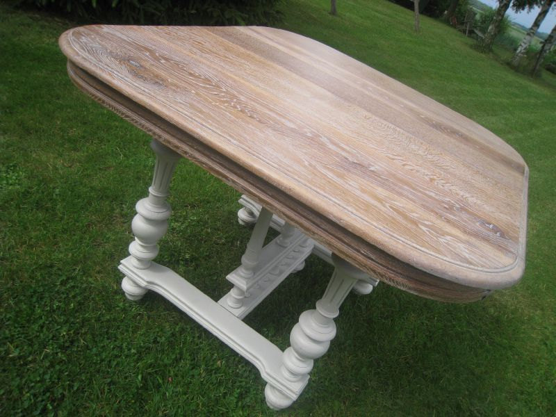 Table henri ii la fin patines couleurs - Comment patiner une table basse en bois ...