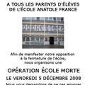 Opération école morte le 5 décembre 2008