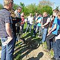 Une classe de 3eme du lycee agricole de sees decouvre la permaculture